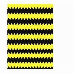 Yellow Black Chevron Wave Large Garden Flag (two Sides)