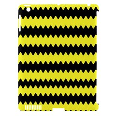 Yellow Black Chevron Wave Apple Ipad 3/4 Hardshell Case (compatible With Smart Cover)