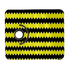 Yellow Black Chevron Wave Galaxy S3 (Flip/Folio)
