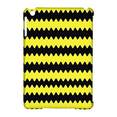 Yellow Black Chevron Wave Apple Ipad Mini Hardshell Case (compatible With Smart Cover)
