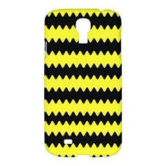 Yellow Black Chevron Wave Samsung Galaxy S4 I9500/i9505 Hardshell Case