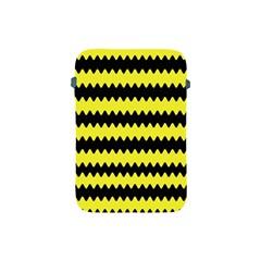 Yellow Black Chevron Wave Apple Ipad Mini Protective Soft Cases