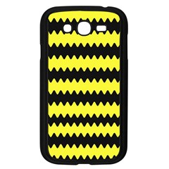 Yellow Black Chevron Wave Samsung Galaxy Grand Duos I9082 Case (black)