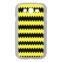 Yellow Black Chevron Wave Samsung Galaxy Grand Duos I9082 Case (white)