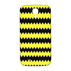 Yellow Black Chevron Wave Samsung Galaxy S4 I9500/i9505  Hardshell Back Case