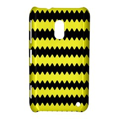 Yellow Black Chevron Wave Nokia Lumia 620