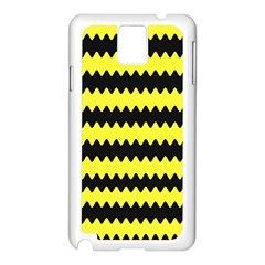 Yellow Black Chevron Wave Samsung Galaxy Note 3 N9005 Case (white)