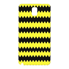 Yellow Black Chevron Wave Samsung Galaxy Note 3 N9005 Hardshell Back Case