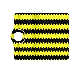 Yellow Black Chevron Wave Kindle Fire Hdx 8 9  Flip 360 Case