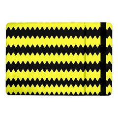 Yellow Black Chevron Wave Samsung Galaxy Tab Pro 10.1  Flip Case
