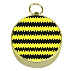 Yellow Black Chevron Wave Gold Compasses