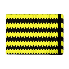 Yellow Black Chevron Wave Ipad Mini 2 Flip Cases