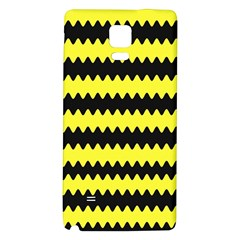 Yellow Black Chevron Wave Galaxy Note 4 Back Case