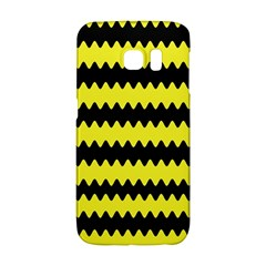 Yellow Black Chevron Wave Galaxy S6 Edge
