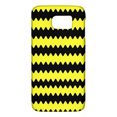 Yellow Black Chevron Wave Galaxy S6