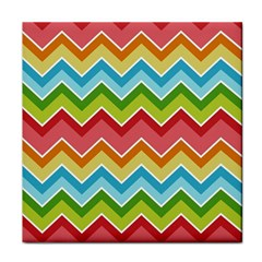 Colorful Background Of Chevrons Zigzag Pattern Tile Coasters