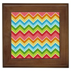 Colorful Background Of Chevrons Zigzag Pattern Framed Tiles