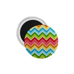 Colorful Background Of Chevrons Zigzag Pattern 1 75  Magnets