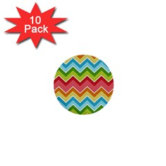 Colorful Background Of Chevrons Zigzag Pattern 1  Mini Buttons (10 Pack)