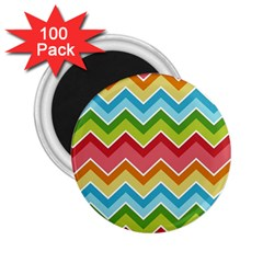 Colorful Background Of Chevrons Zigzag Pattern 2 25  Magnets (100 Pack)