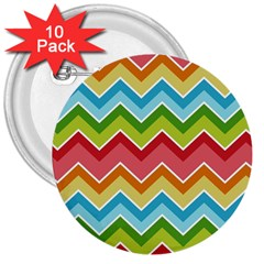 Colorful Background Of Chevrons Zigzag Pattern 3  Buttons (10 Pack)