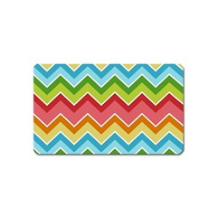 Colorful Background Of Chevrons Zigzag Pattern Magnet (Name Card)