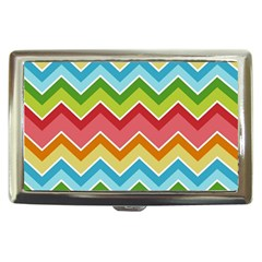Colorful Background Of Chevrons Zigzag Pattern Cigarette Money Cases