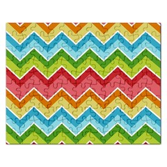 Colorful Background Of Chevrons Zigzag Pattern Rectangular Jigsaw Puzzl
