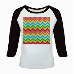 Colorful Background Of Chevrons Zigzag Pattern Kids Baseball Jerseys