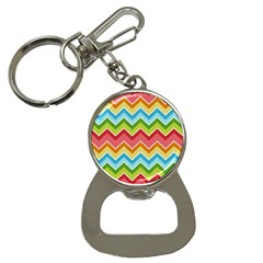 Colorful Background Of Chevrons Zigzag Pattern Button Necklaces