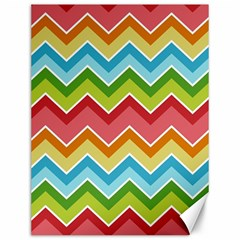 Colorful Background Of Chevrons Zigzag Pattern Canvas 12  X 16