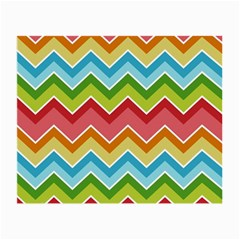 Colorful Background Of Chevrons Zigzag Pattern Small Glasses Cloth (2-Side)