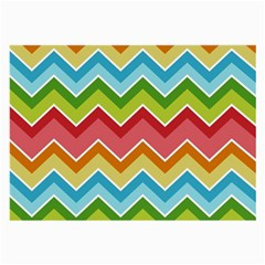 Colorful Background Of Chevrons Zigzag Pattern Large Glasses Cloth (2-Side)