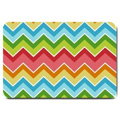 Colorful Background Of Chevrons Zigzag Pattern Large Doormat