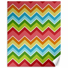 Colorful Background Of Chevrons Zigzag Pattern Canvas 11  X 14