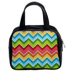 Colorful Background Of Chevrons Zigzag Pattern Classic Handbags (2 Sides)