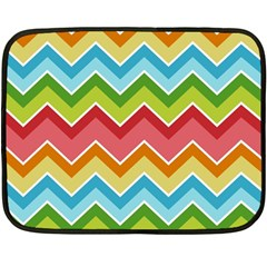 Colorful Background Of Chevrons Zigzag Pattern Double Sided Fleece Blanket (mini)