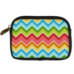 Colorful Background Of Chevrons Zigzag Pattern Digital Camera Cases