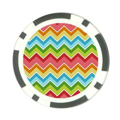 Colorful Background Of Chevrons Zigzag Pattern Poker Chip Card Guard (10 Pack)