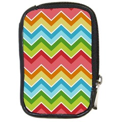 Colorful Background Of Chevrons Zigzag Pattern Compact Camera Cases