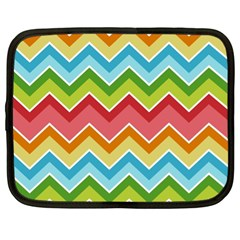 Colorful Background Of Chevrons Zigzag Pattern Netbook Case (xl)