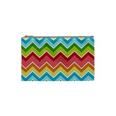 Colorful Background Of Chevrons Zigzag Pattern Cosmetic Bag (small)