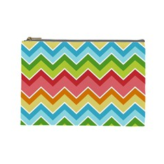 Colorful Background Of Chevrons Zigzag Pattern Cosmetic Bag (large)