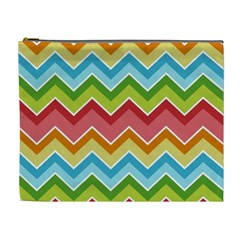 Colorful Background Of Chevrons Zigzag Pattern Cosmetic Bag (XL)