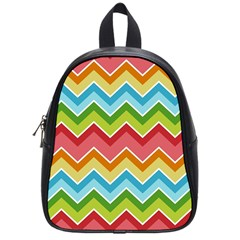 Colorful Background Of Chevrons Zigzag Pattern School Bags (small)