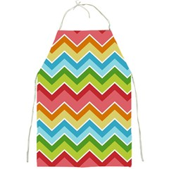 Colorful Background Of Chevrons Zigzag Pattern Full Print Aprons