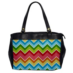 Colorful Background Of Chevrons Zigzag Pattern Office Handbags