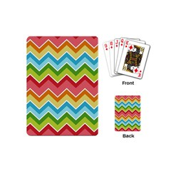 Colorful Background Of Chevrons Zigzag Pattern Playing Cards (mini)