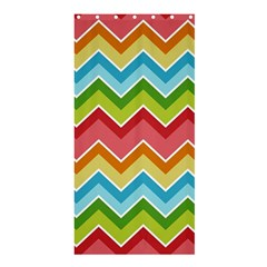 Colorful Background Of Chevrons Zigzag Pattern Shower Curtain 36  X 72  (stall)