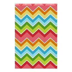 Colorful Background Of Chevrons Zigzag Pattern Shower Curtain 48  X 72  (small)